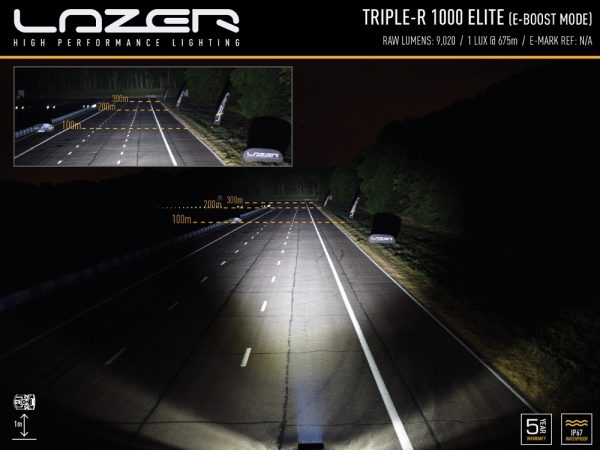 Triple R 1000 Elite E Boost Beam Pattern | White Horse Motors